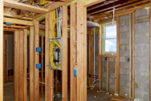 interior framing of a new house under construction construction home framing t vKxJp