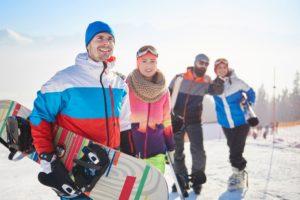 snowboard team on the ski slope ELRGC