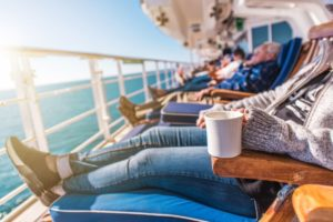 deckchairs cruise ship relax PWXBEM