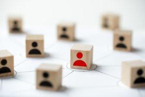 social media network concept using icon people SMEJ
