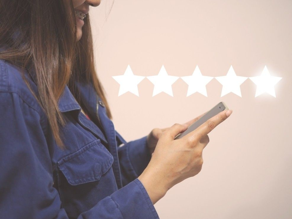 excellence rating online concept customer stars review positive feedback of satisfied customer t ZxXEQg