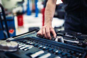 set of tools for repair in car service mechanic GJKAUQE