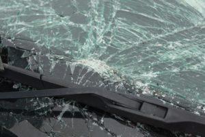smashed vehicle windshield TLHWKSN