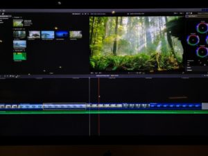 video editing time line and clips on a computer screen video editing process t YwpgEm