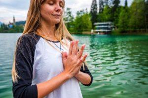 yoga nature mindfulness lake n PRCL