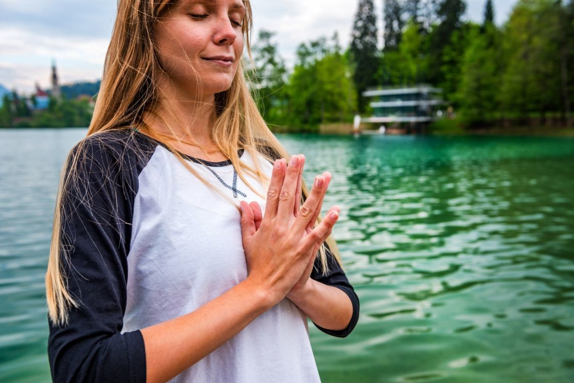 yoga nature mindfulness lake n PRCL