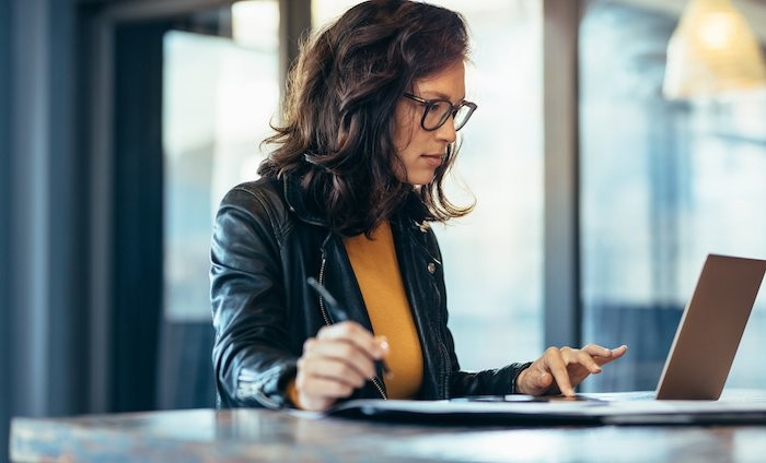 Woman-Doing-Business-work
