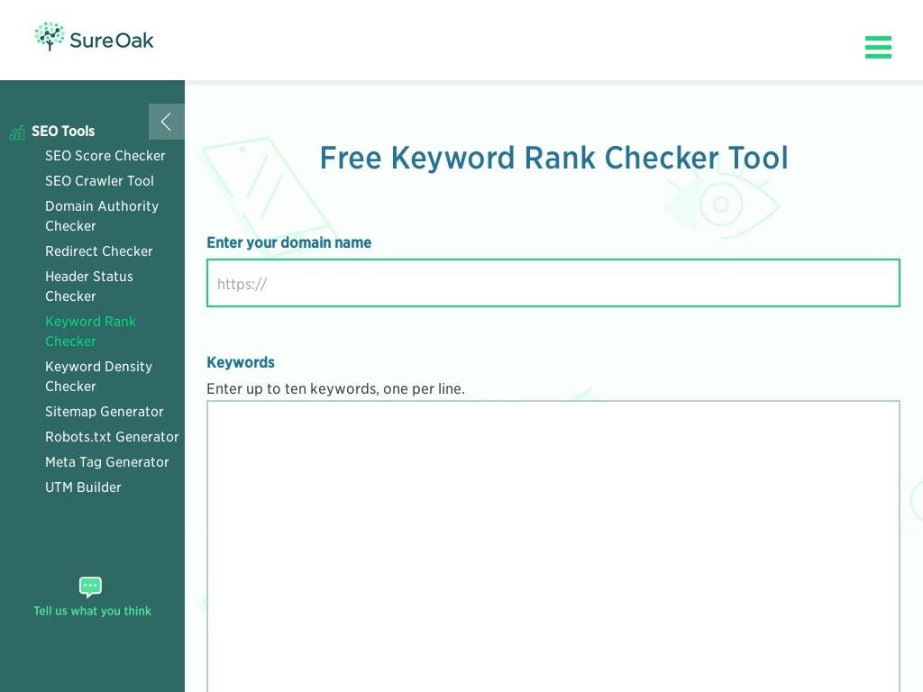 free keyword rank checker tool