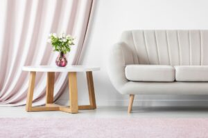pink sophisticated interior with flowers PHYJV