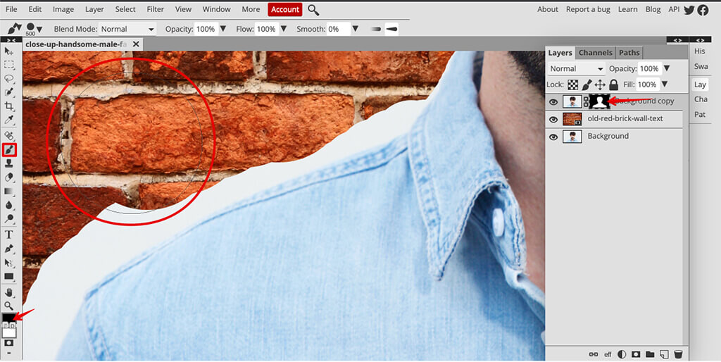 adding a background to a photo and final touches