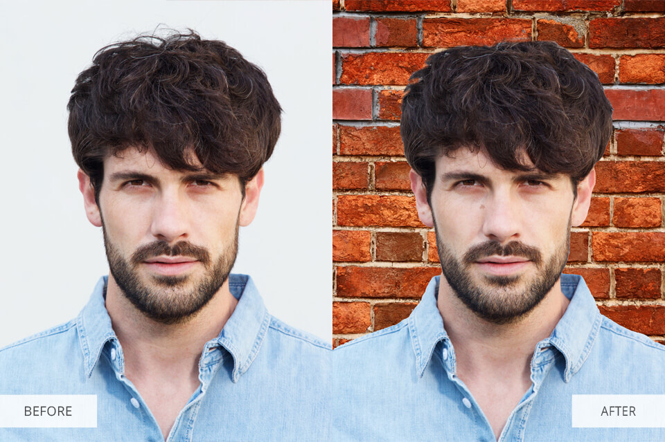how to add a background to a photo online before after