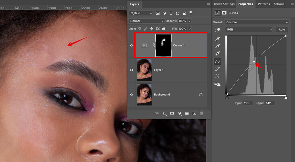 how to remove glare from photos face retouching curves