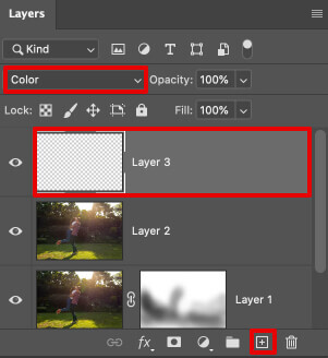 remove sun glare from photo color blend mode