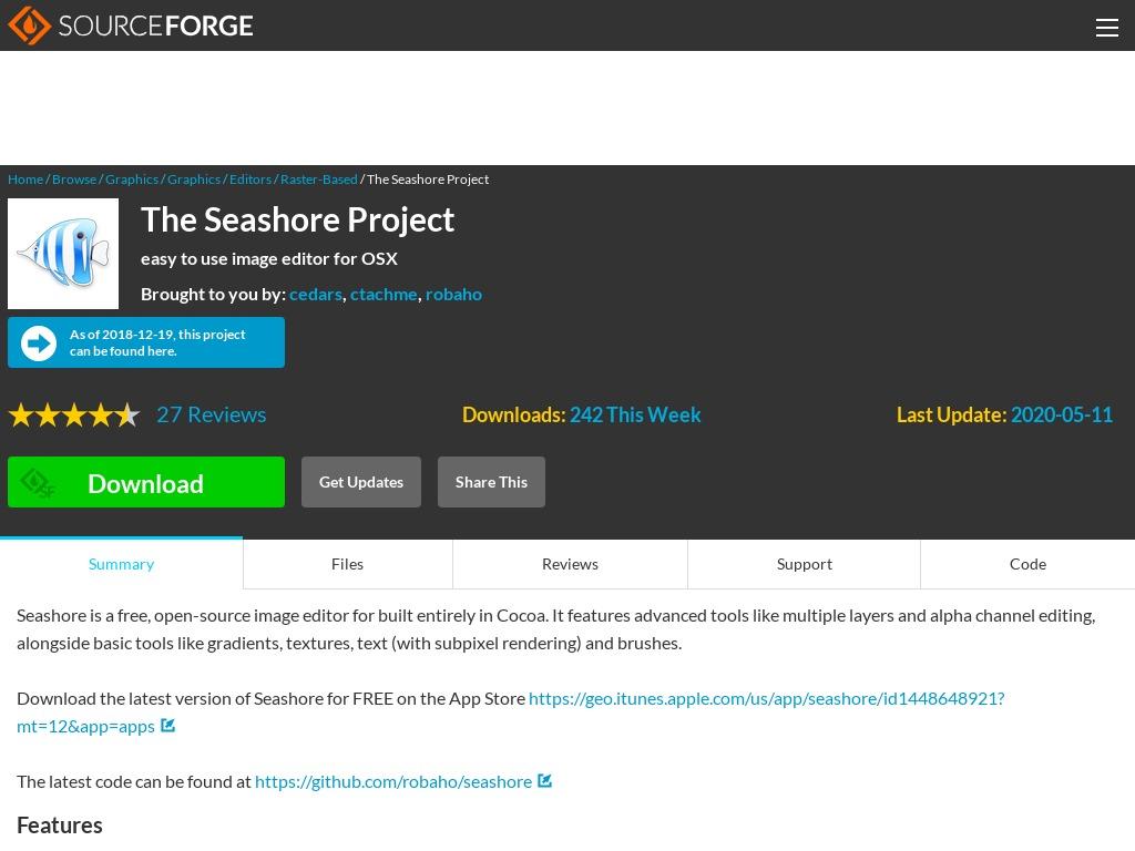 seashore sourceforge net
