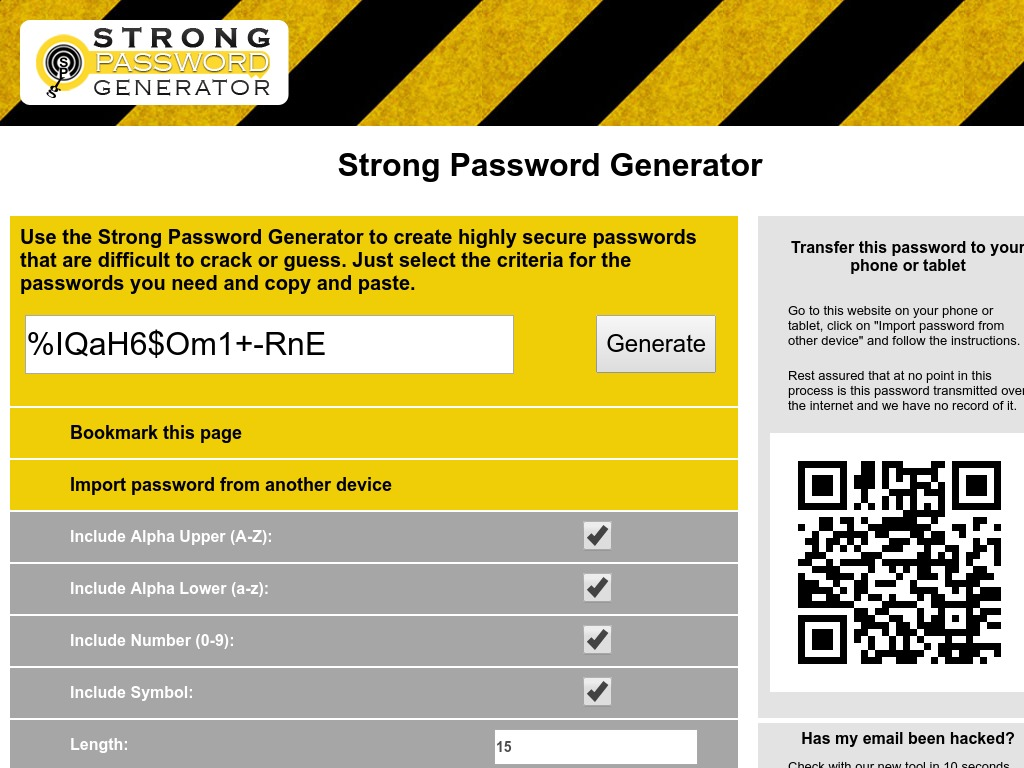 strongpasswordgenerator org xdesktop ce