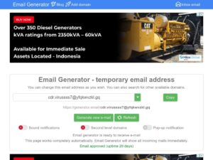 generator email xdesktop ca min