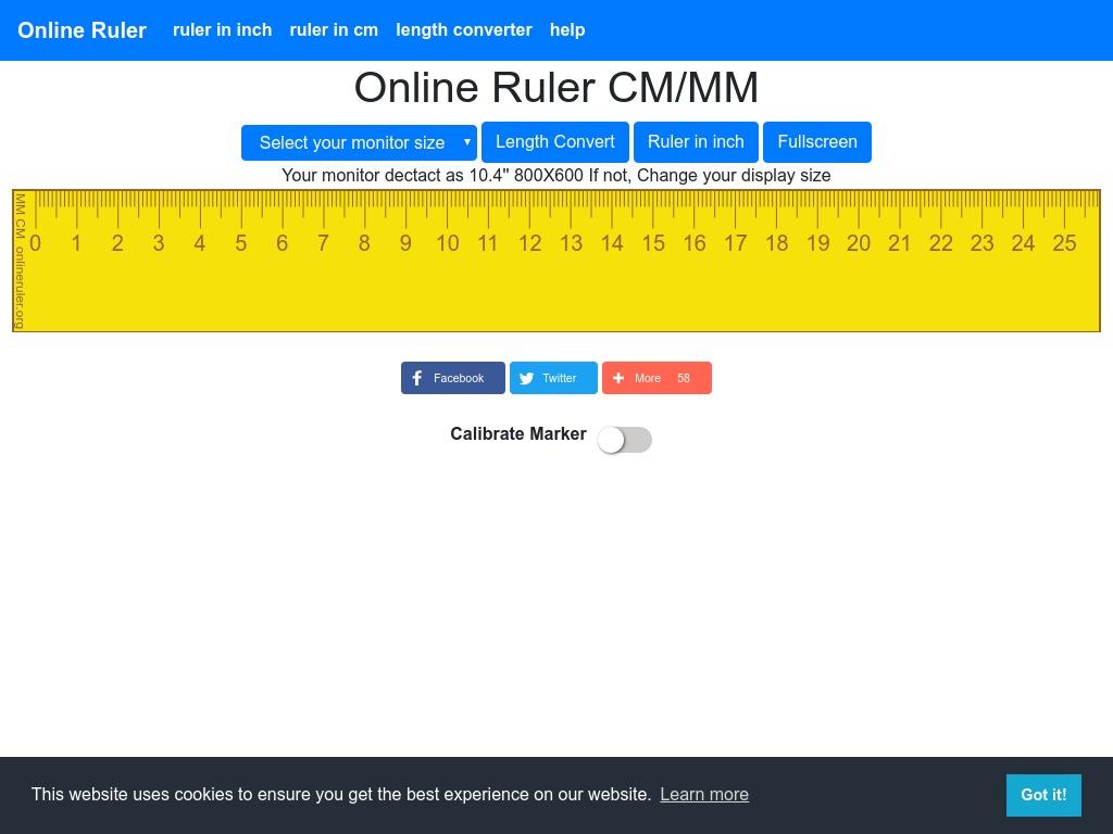 onlineruler org xdesktop c