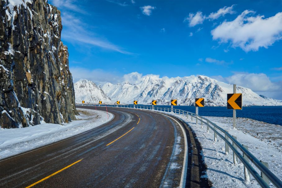 road in norway in winter FYTW