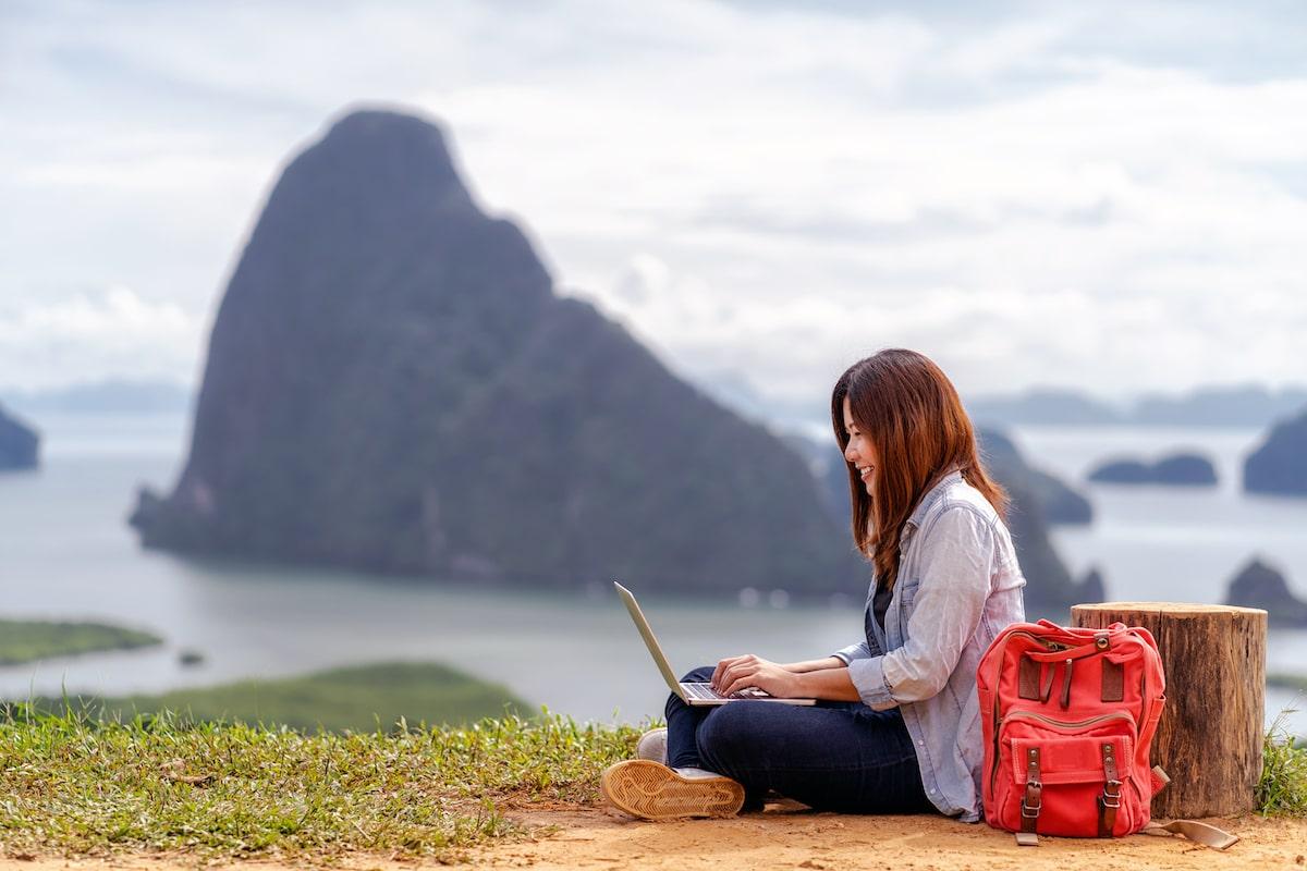 asian woman freelancer working