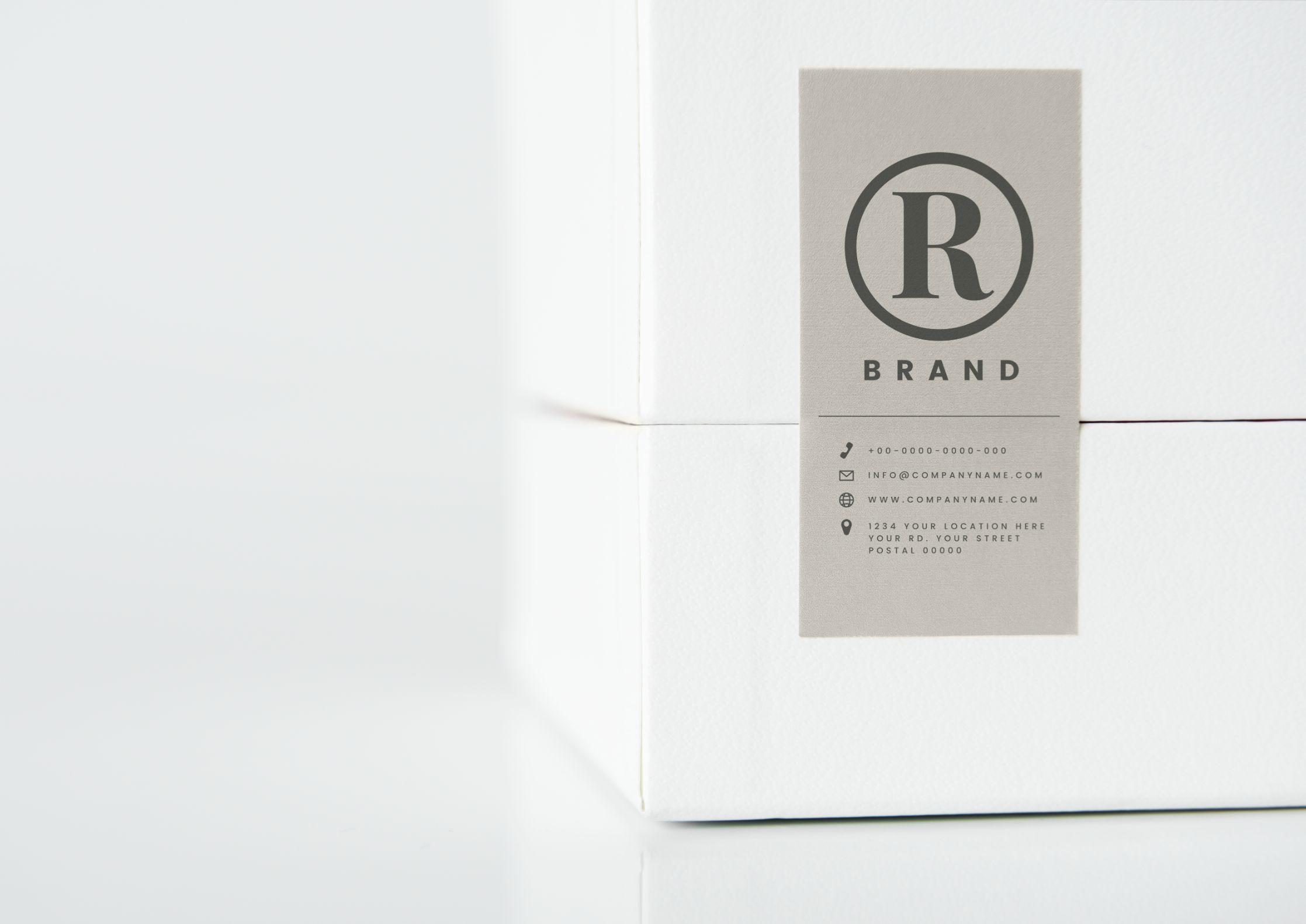 simple white packaging box mockup GMQXU