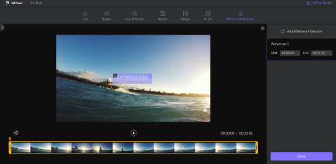 remove TikTok watermark from video – select watermark