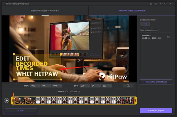 remove watermark from TikTok video – select watermark