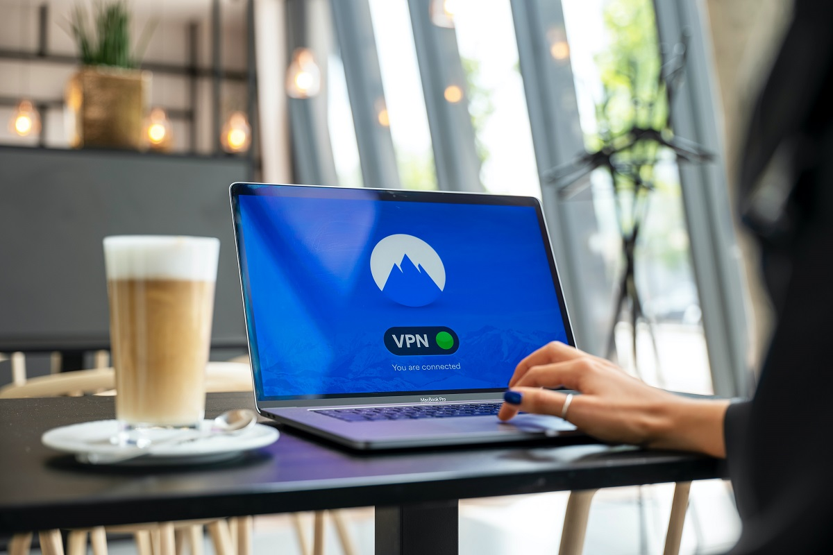 woman using a vpn on her laptop