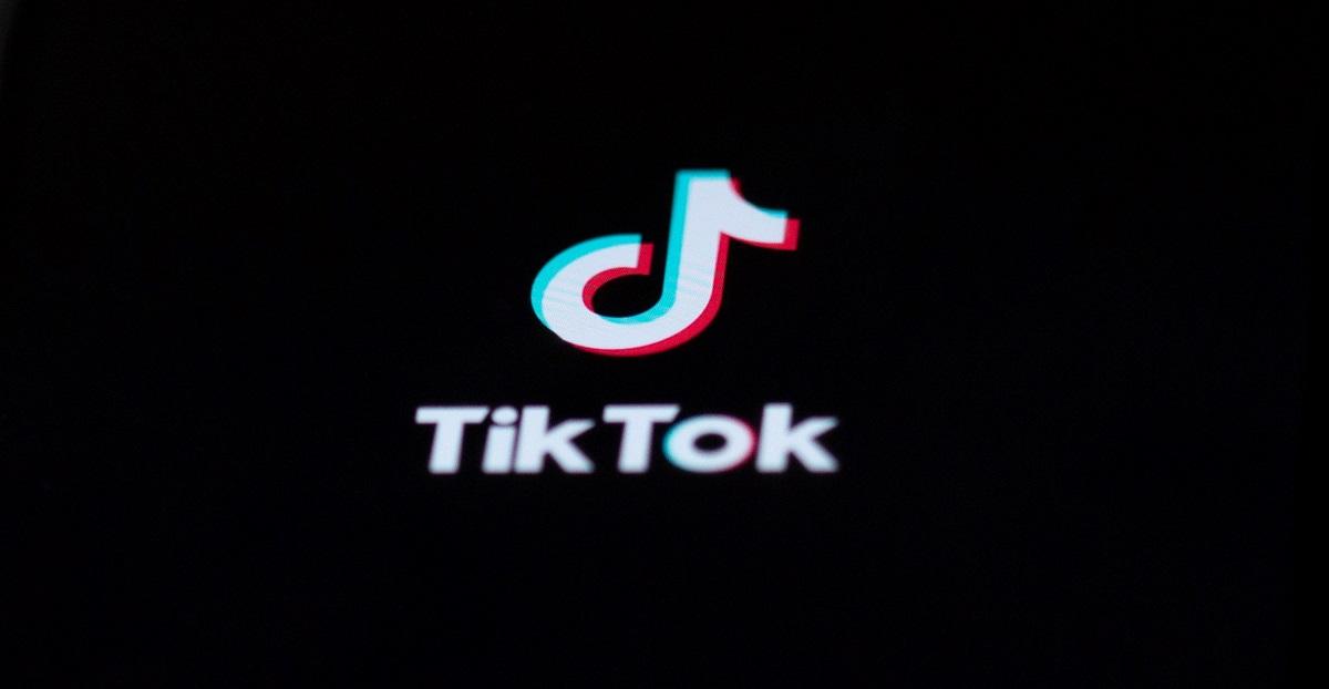 tik tok app open on smartphone